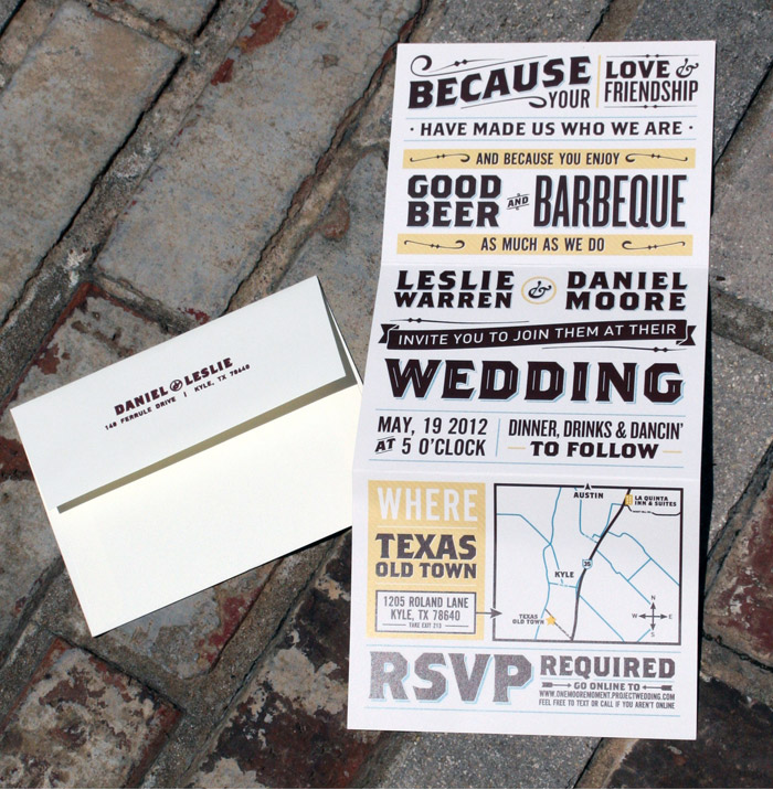 daniel leslie wedding invitations collateral